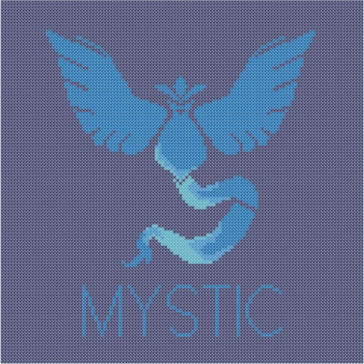 Pokemon Go: Team Mystic (Cross-Stitch Pattern) by gladrial