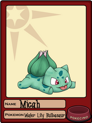 Micah Water Lily Bulbasaur pet sheet