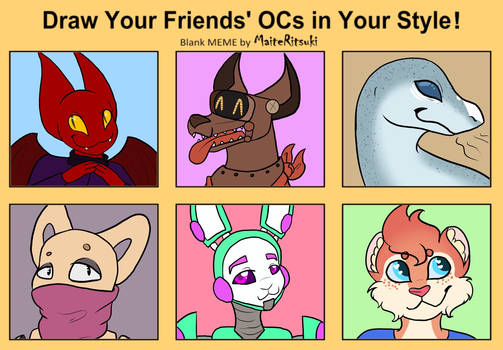 Draw your friends OCs in your style