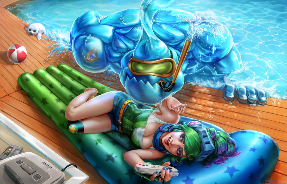 Arcade Riven And Pool Party Zac Full By Naivascha On Deviantart