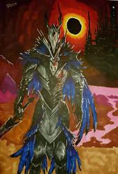 Dark Souls Avian Black Knight by Rikien