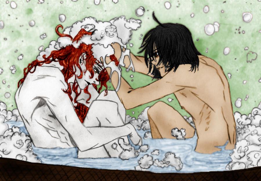 Vampire Armand and Vampire Benji- Badezeit by SeraphimTenshi