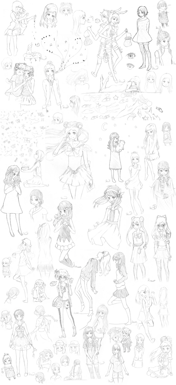 Sketch Dump three by Tovato