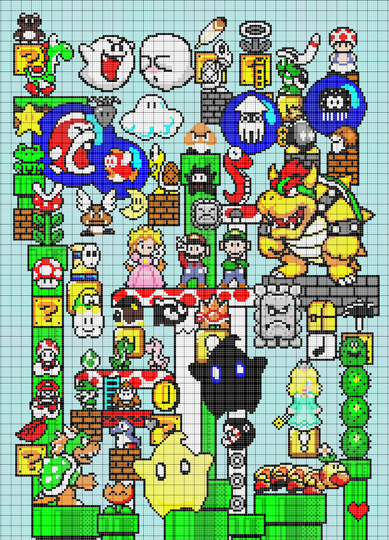 Mario : pattern by leseldur