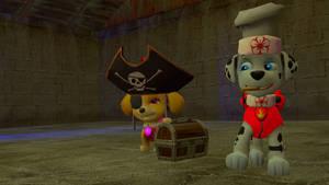 ninja Marshall and Pirate Skye