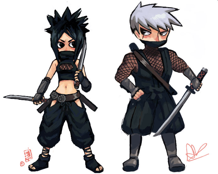 Tenchu 3 Ayame And Rikimaru Cute Chibi By Deidarathehotty On Deviantart