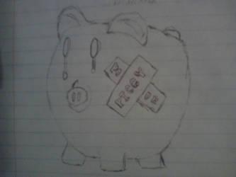 Broken Piggy by DelilaRhettDevillier