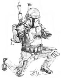 Jango Fett Sketch by Chum162