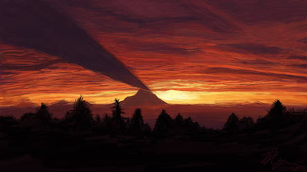 Mount Rainier: Shadow Caster by Chum162
