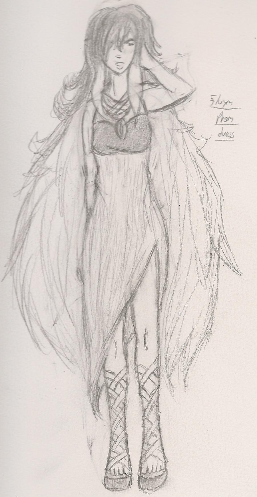 Flaym Prom Dress Sketch by Plot-is-EVIL on DeviantArt