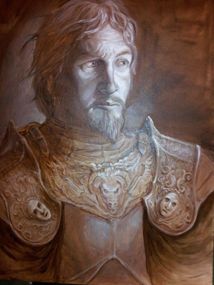 Sir Kegel (oil monochrome phase) by Lovegrove