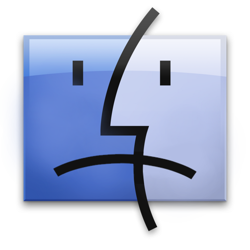 Sad Finder Dock Icon by CporsDesigns