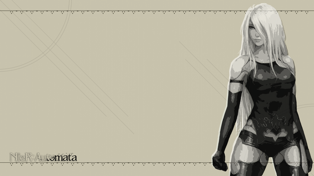 Nier Automata Fan Art Wallpaper 01 1920x1080: A2 NieR Automata Wallpaper 1920 X 1080 By CporsDesigns On