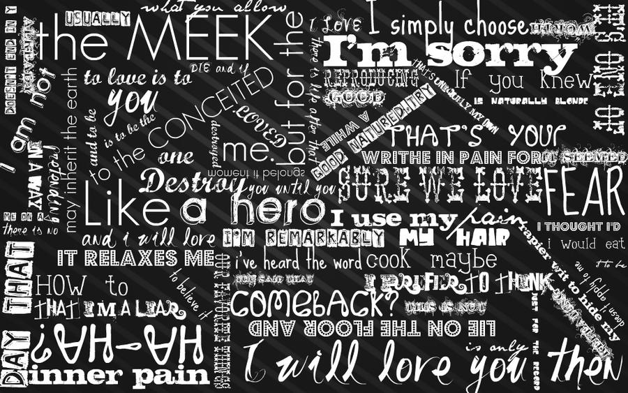 Mortal Instruments Typography by freedomfighter12
