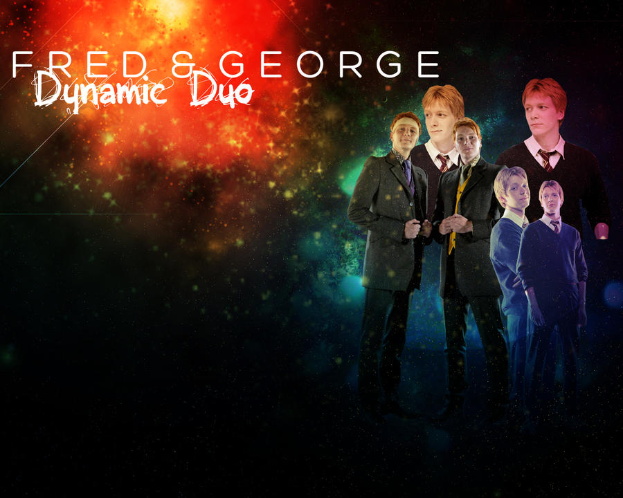 Dynamic Duo: Fred and George by freedomfighter12