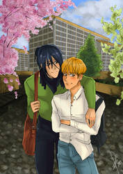 Final Project - Mahoto and Rin's AU (1) by Sophie483