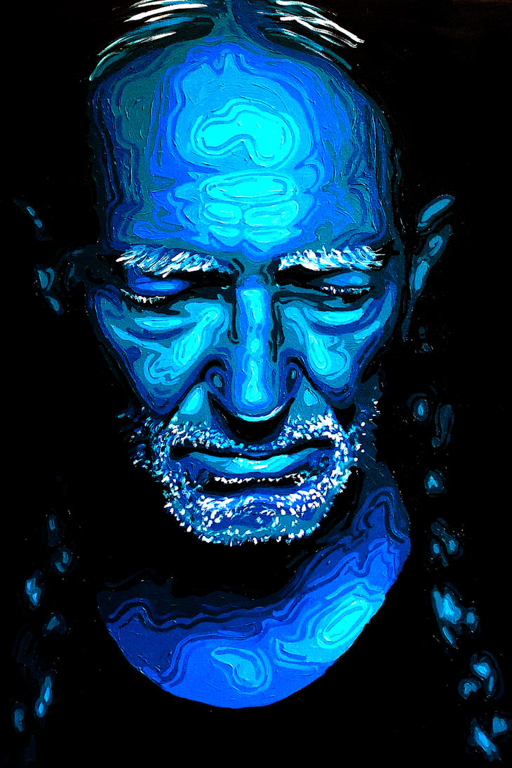 Willie Nelson 24x36 Painting by Smclachlan