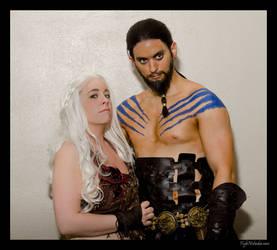Khal and Khaleesi by Danii-chan