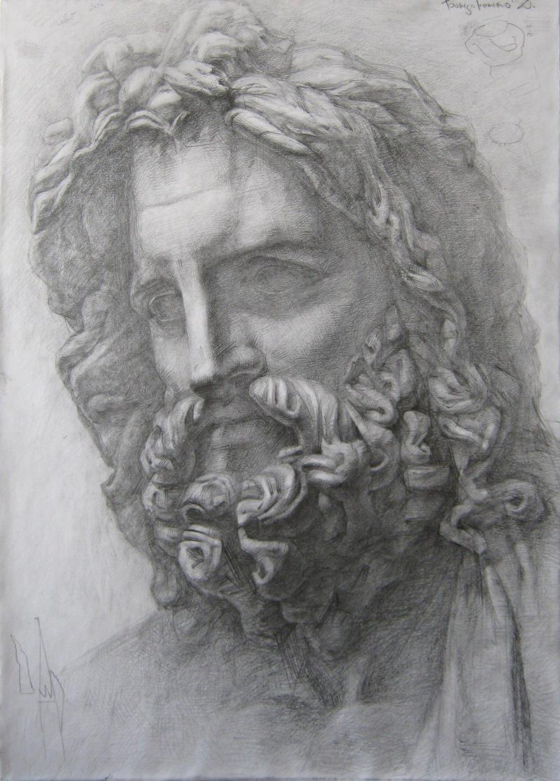 Zeus Line Drawing : Zeus by glaringdragon on deviantart