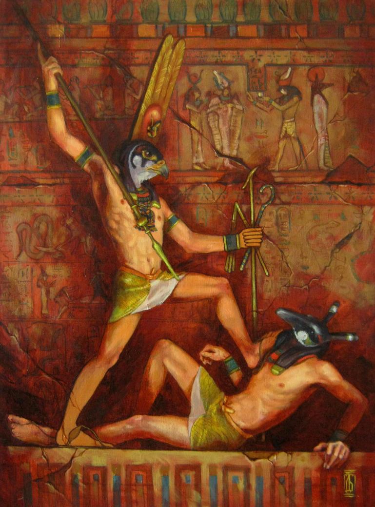 Horus and Set by GlaringDragon