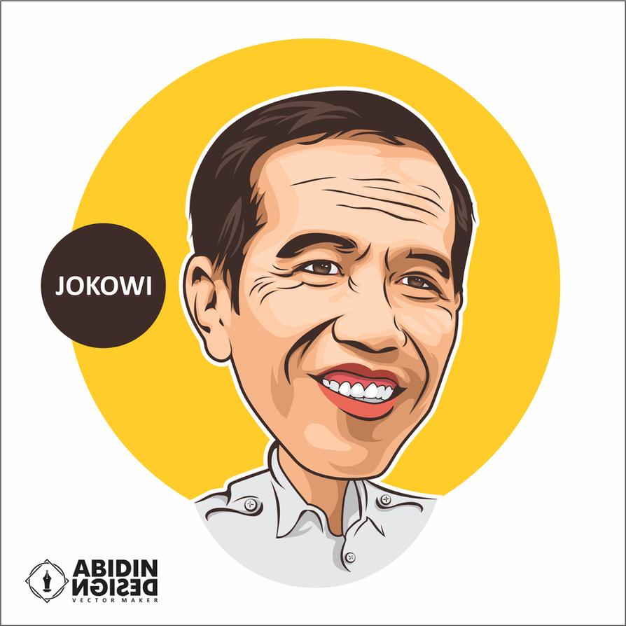 Kumpulan Cara Menggambar Sketsa Wajah Jokowi Sketsa Gambar