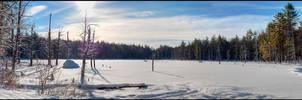Snowy Pond Sunrise