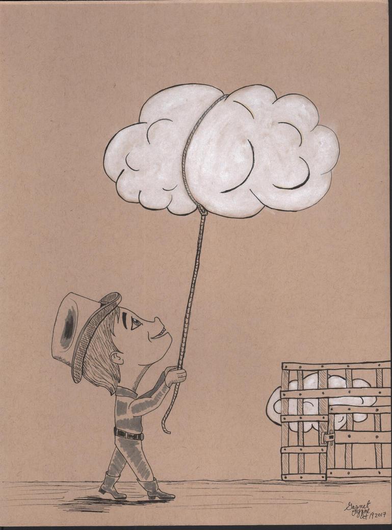 Inktober2017 Day 19 Cloud Wrangler by GypsieOtterAnime
