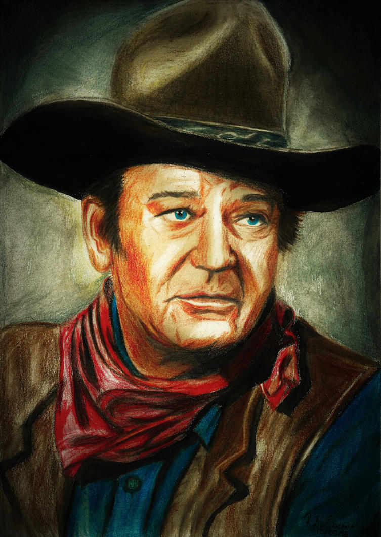 John Wayne Portrait by RachelLou96