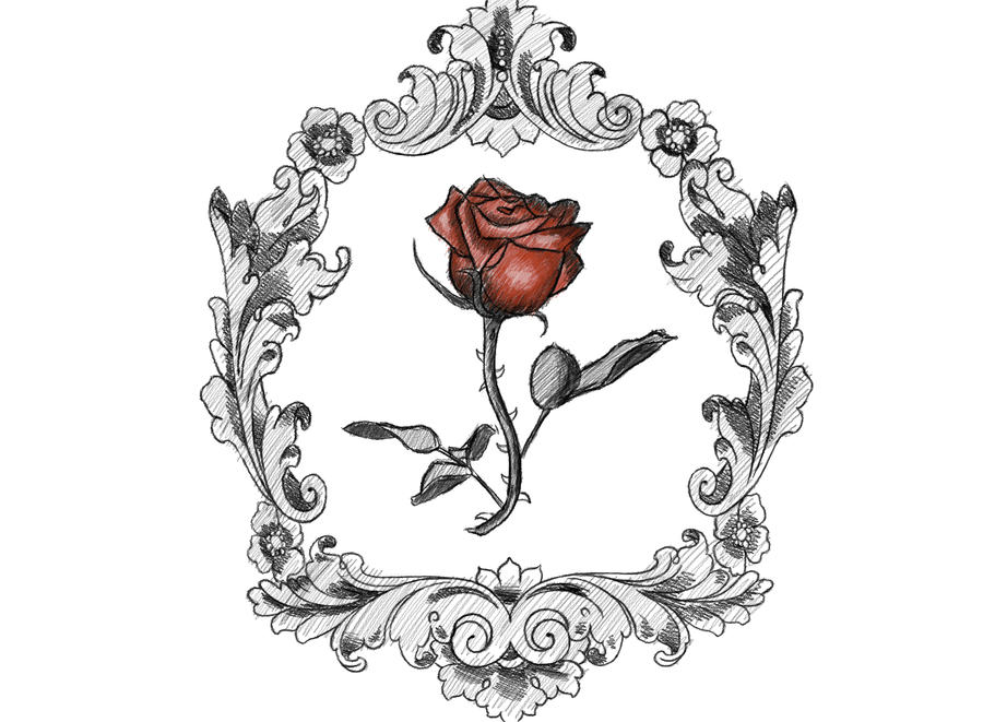 victorian frame design. Victorian Rose - Tattoo By KrisPhero Frame Design