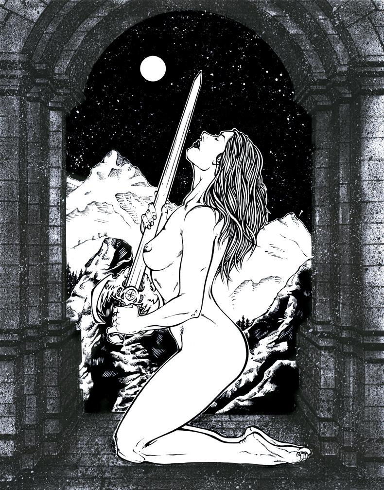 sword girl by El-Inker