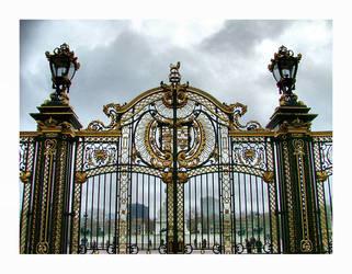 Green park gate by RickyJones