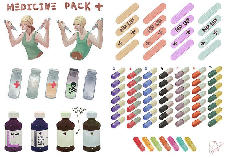 medicine stiker pack by Hyia-K