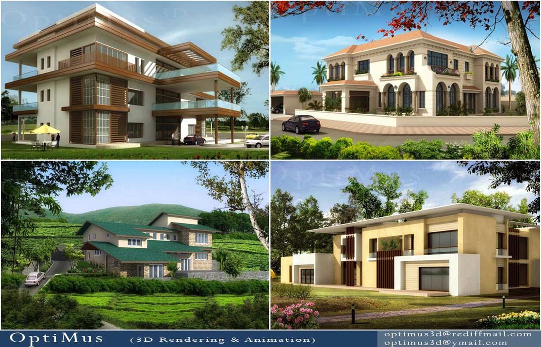 3d views villas by optimus3d on deviantart