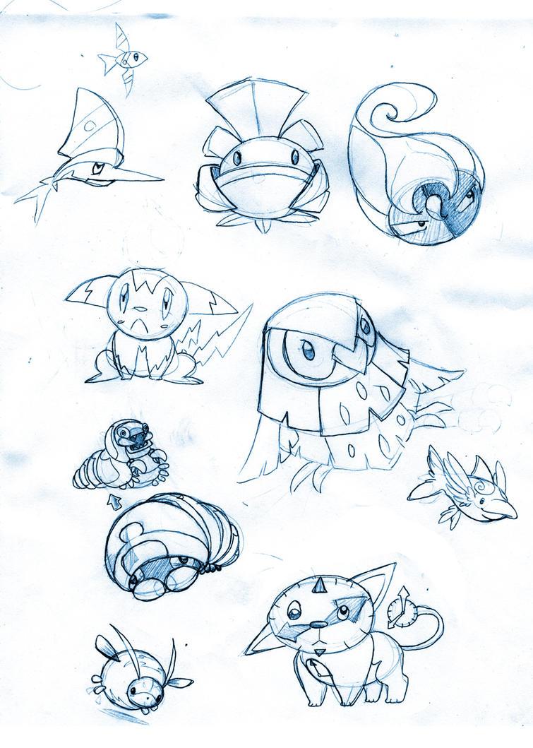 Terra Monsters - Sketch Dump 4 by TerryTibke