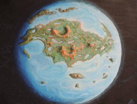 Terraformed Venus 3D painting