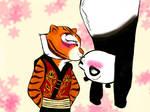 Upside down Kiss. (Po X Tigress)