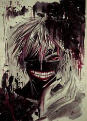 Ken Kaneki - Tokyo Ghoul by KilluaZoldyck-Hunter