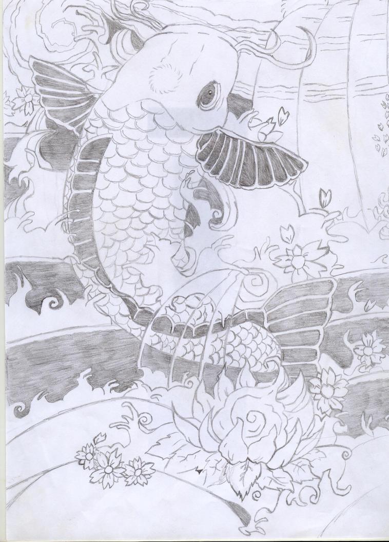 koi fish tattoo add ons