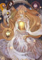 Goddess of Lamp by Hanh-Chu
