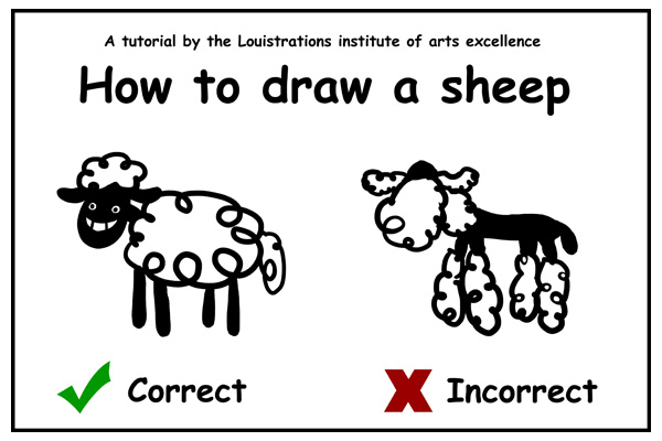 How to draw a sheep - photo#20