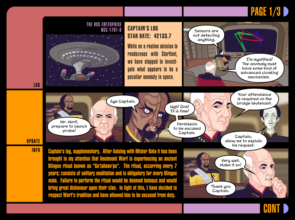 Star Trek, Part One by Louistrations
