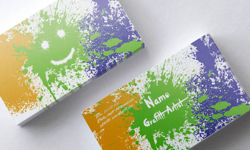 Graffiti Artist Business Card by SobohRami