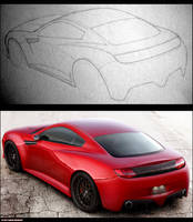 Concept Car rear view by GTStudio