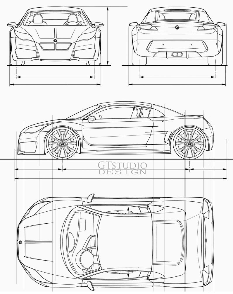 BMW Concept blueprints by GTStudio on DeviantArt