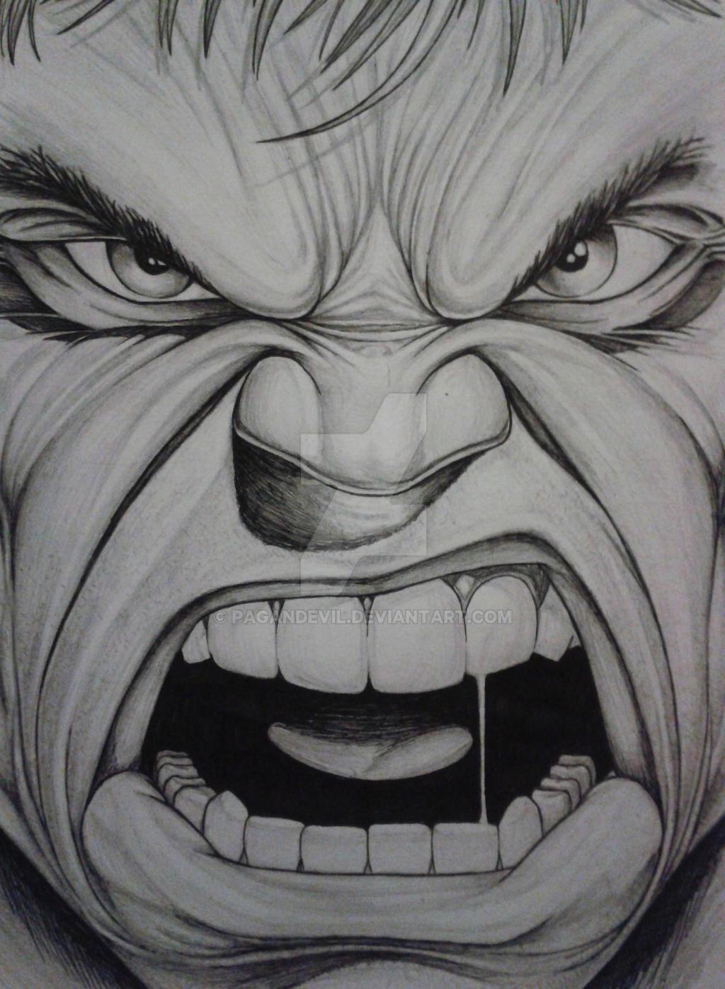 Hulk Sketch 01 By Pagandevil On DeviantArt