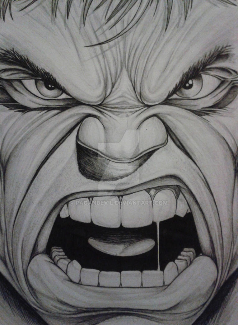 Hulk Face Line Drawing : Hulk sketch by pagandevil on deviantart
