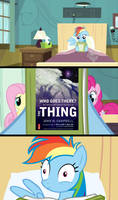 Rainbow Dash Reads Who Goes There?