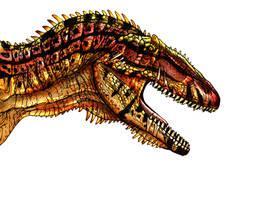 Carcharodontosaurus by Fafnirx
