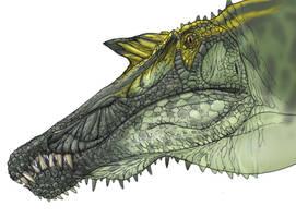 Spinosaurus face by Fafnirx