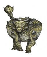Ankylosaurus by Fafnirx